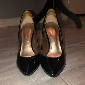 Black Shiny BCB heels